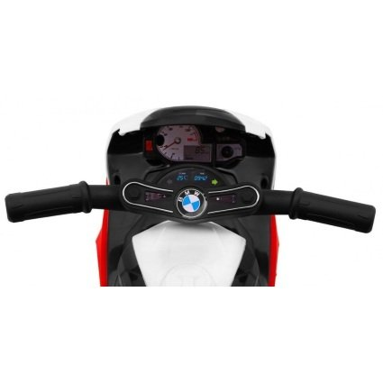 Электромотоцикл BMW S1000RR Red (трицикл, 6V) - JT5188 (музыка, свет фар, сиденье кожа)