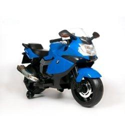 Детский электромотоцикл BMW K1300S 12V - Z283 синий (колеса резина, музыка, ручка газа)